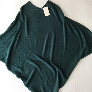 A New Day forest green knit poncho